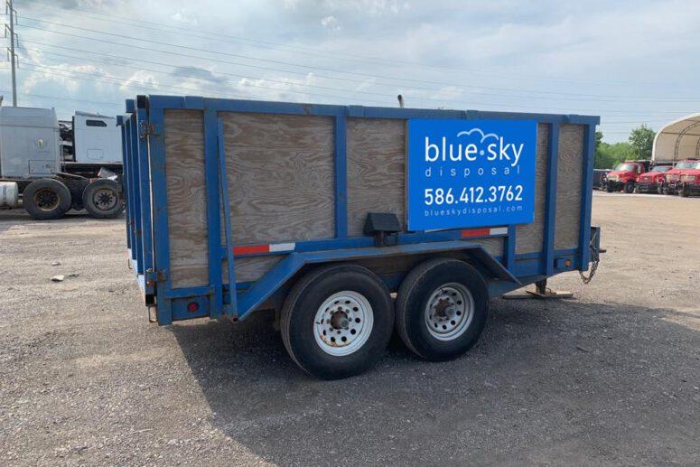 10 Yard Rubber Wheel Dumpster Rental Detroit